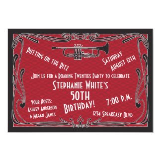 50th Birthday Invite Roaring Twenties Speakeasy