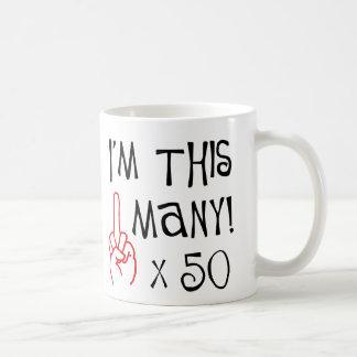 50th birthday Middle Finger Salute Basic White Mug