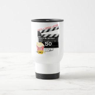 50th Birthday Movie Theme Mugs