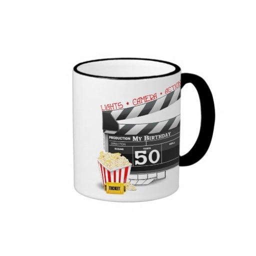 50th Birthday Movie Theme Coffee Mugs
