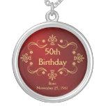 50th Birthday Necklace - Vintage Frame Pendant