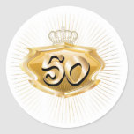 50th birthday or anniversary sticker
