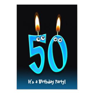 50th Birthday Party 13 Cm X 18 Cm Invitation Card