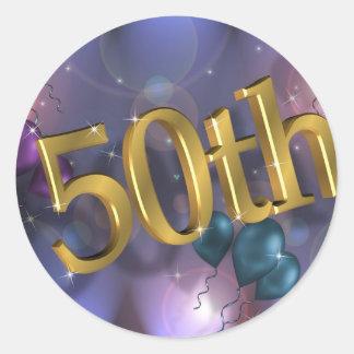 50th Birthday party celebration Classic Round Sticker