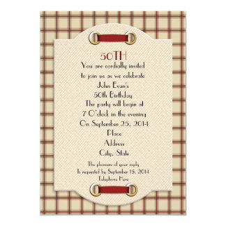 50th Birthday party formal invitation for man