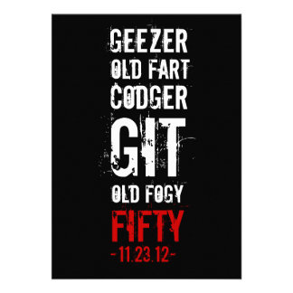 50th Birthday Party Geezer Personalized Invite