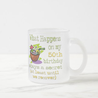 50th Birthday Party Gifts. What happens on my 50th Coffee Mugs
