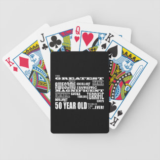 50th Birthday Party Greatest Fifty Year Old Playing Cards