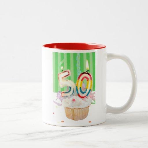 50th birthday party greeting coffee mug