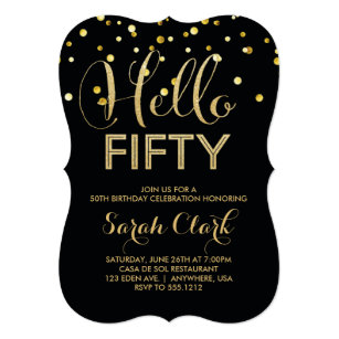 50th Birthday Invitations Announcements Zazzle AU
