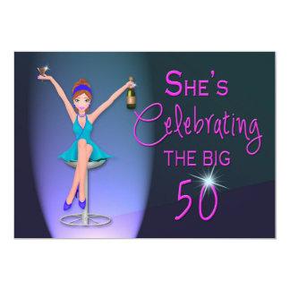 50th Birthday Party Invitation -  Flirty and Sassy