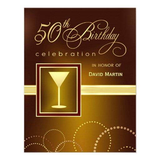 50th Birthday Party Invitations - Contemporary