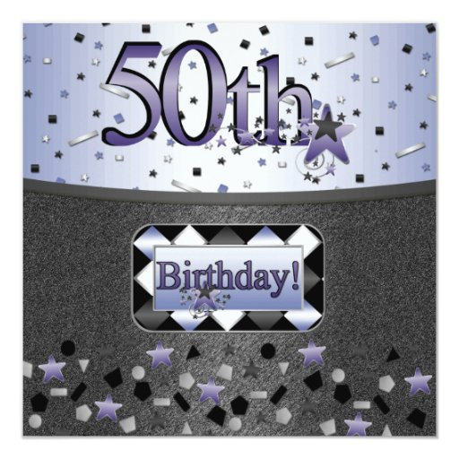 50TH BIRTHDAY PARTY INVITATIONS FOR HIM OR HER