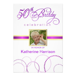 50th Birthday Party Invitations - with Monogram