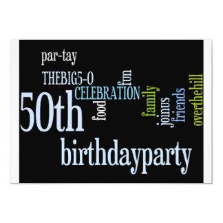 50th Birthday Party Invite