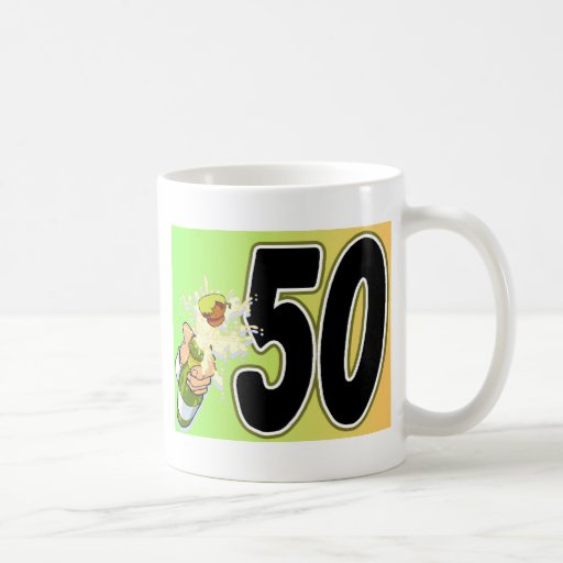 50th birthday party merchandise coffee mug