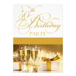 50th Birthday Party Personalised Invitation