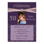 50th Birthday Party Personalised Photo Invitations