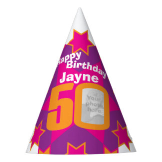 50th birthday personalized photo star name hat