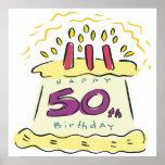 50th Birthday Poster