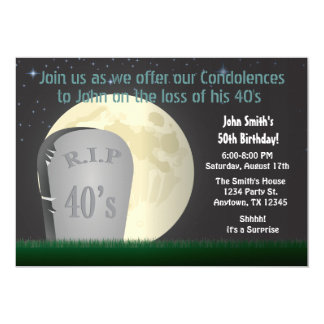 50th Birthday RIP 40s Invitation