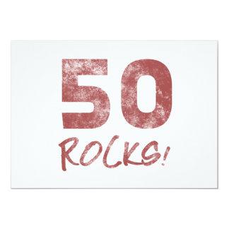 50th Birthday Rocks Card