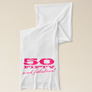 50th Birthday scarf for women | fifty and fabulous