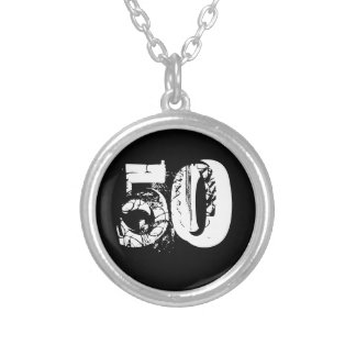 50th Birthday Silver Plated Necklace