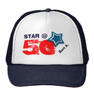 50th Birthday STAR Custom Name A07 Cap