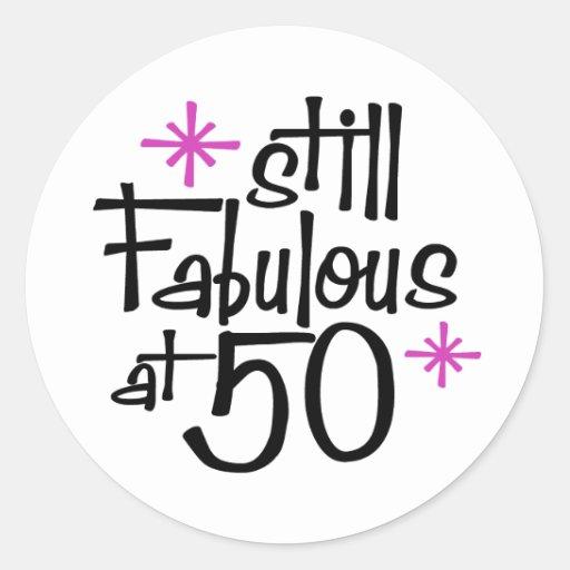 50th Birthday Round Sticker