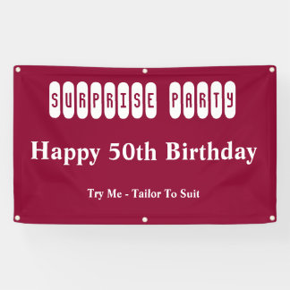 50th Birthday Surprise Party Banner