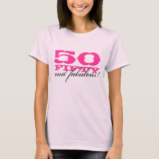 50th Birthday t shirt for women | 50 and fabulous!