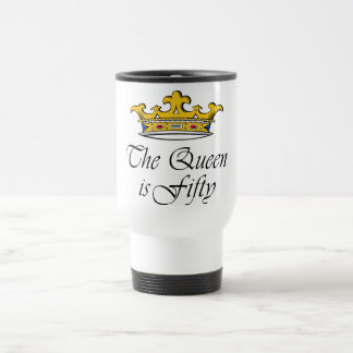 50th birthday The Queen is 50! Stainless Steel Travel Mug
