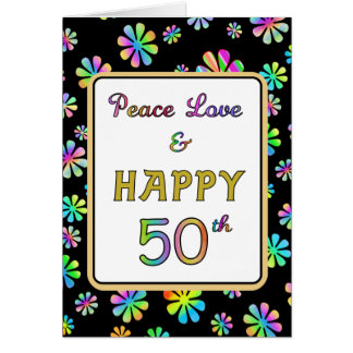 50th Birthday Wishes Card