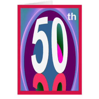 50TH Birthday Wishes Card for Anyone