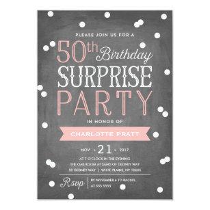 Surprise 50th birthday invitations zazzle 50th confetti surprise party invitation birthday stopboris Image collections