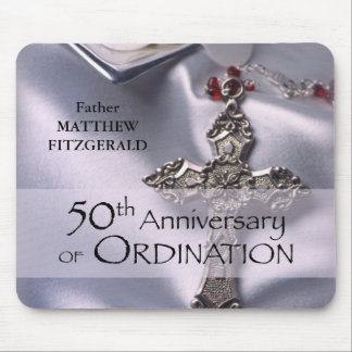 50th Custom Name Ordination Anniversary Chalice Mouse Pad