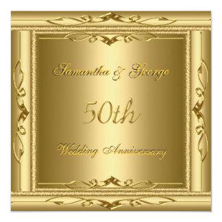 50th gold Wedding Anniversary Invitation