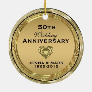 50th Gold Wedding Anniversary Ornament