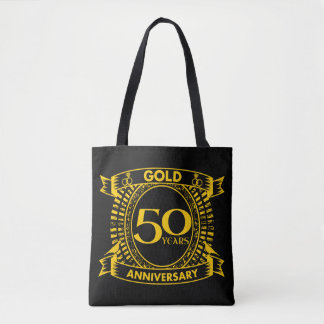 50th Gold Wedding Anniversary Tote Bag