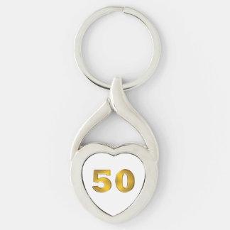 50th Golden Anniversary Keychains