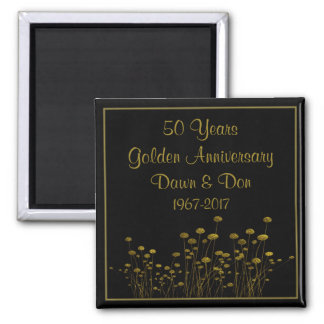 50th Golden Anniversary Magnet