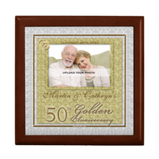 50th Golden Anniversary Photo Jewelry Box