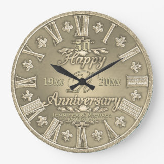 50th Golden Wedding Anniversary Clock