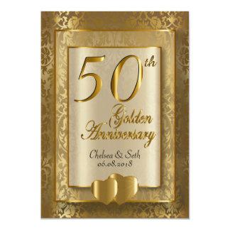 50th Golden Wedding Anniversary | DIY Text 13 Cm X 18 Cm Invitation Card