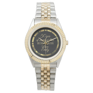 50th Golden Wedding Anniversary Husband Watch 2