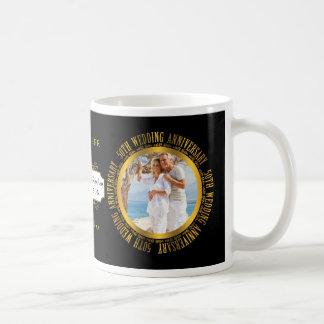 50th Golden Wedding Anniversary Photo Date Basic White Mug