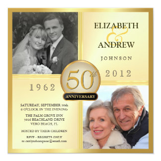 50th Wedding Anniversary Invitations & Announcements | Zazzle.com.au