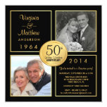 50th Golden Wedding Anniversary Surprise Party Personalized Announcements