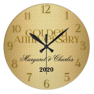 50th Golden Wedding Annivsersary Custom Large Clock